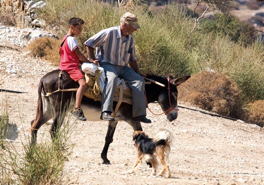 Familienausflug mit Esel - Amorgos - Pfade - paths