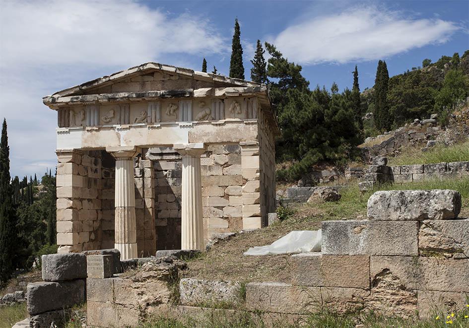 Delfi - das Schatzhaus der Athener (6.Jh. v.Chr.) -  - Delfi