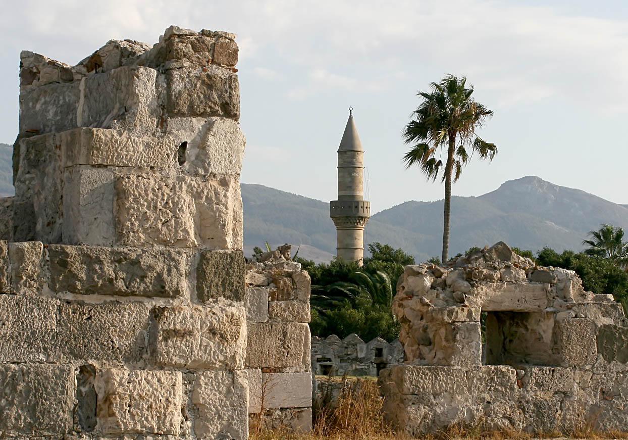 Kos - Johanniterfestung und Minarett -  - Kos