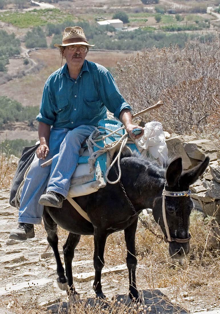 mit dem Esel unterwegs - Amorgos - Pfade - paths
