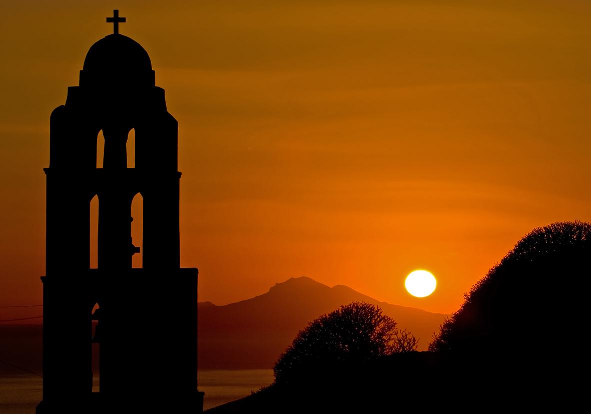 Folegandros - Panagia - Sonnenuntergang -  - Folegandros