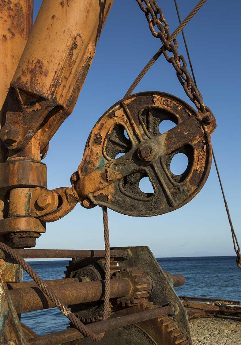 Lionas alter Bergwerkshafen -  - Naxos