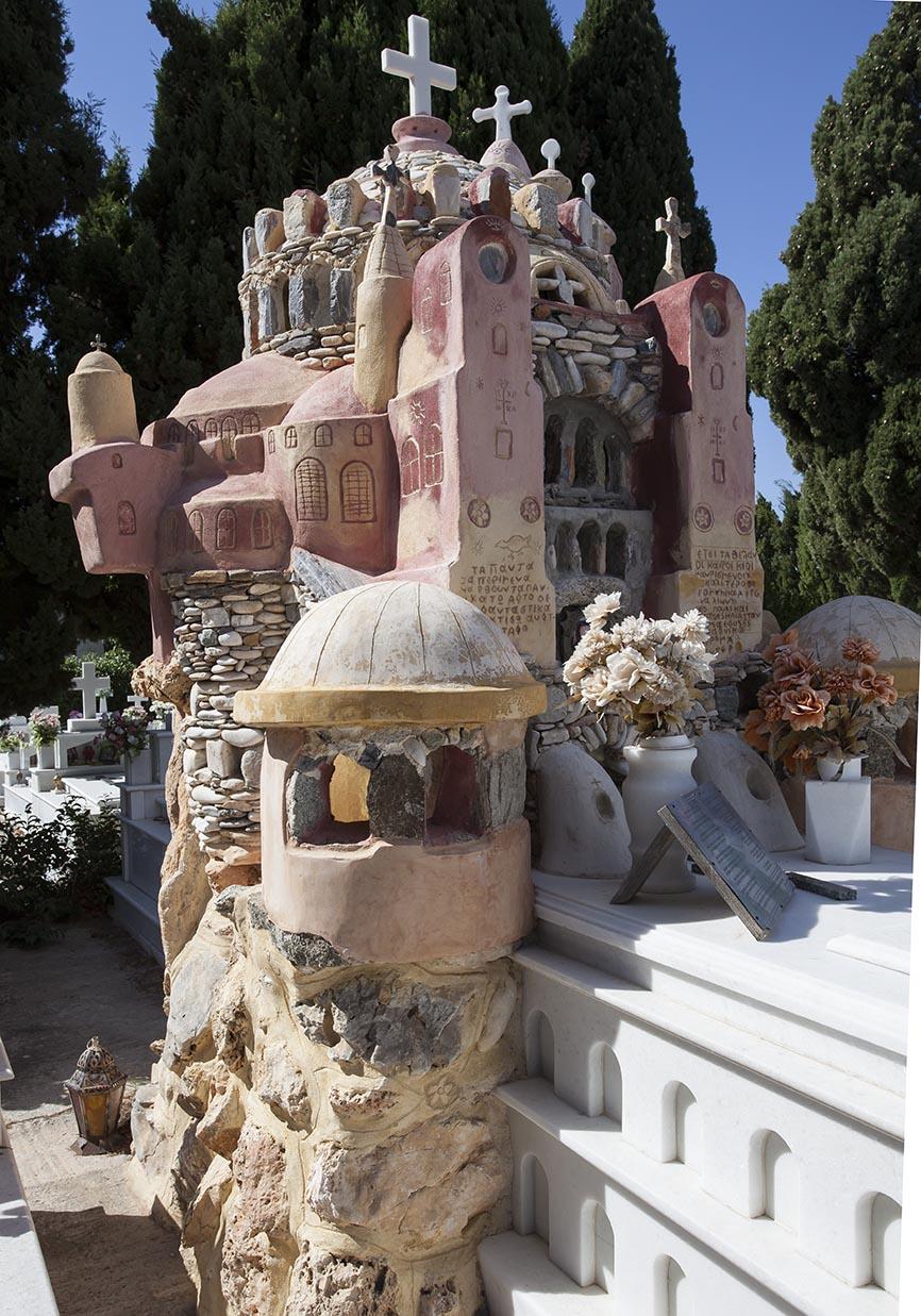 Naxos- - Vivlos -  - Griechische Friedhöfe - Greec cemeteries