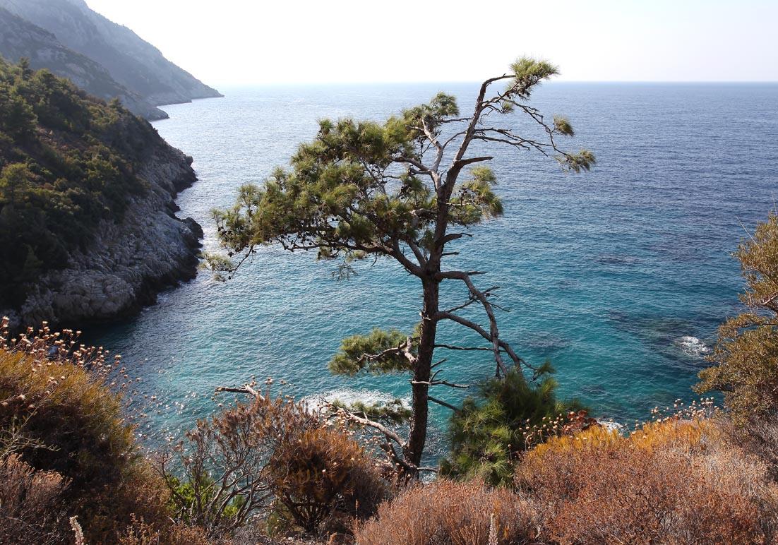 Samos - von der Megalo Saitani nach Drakei -  - Samos