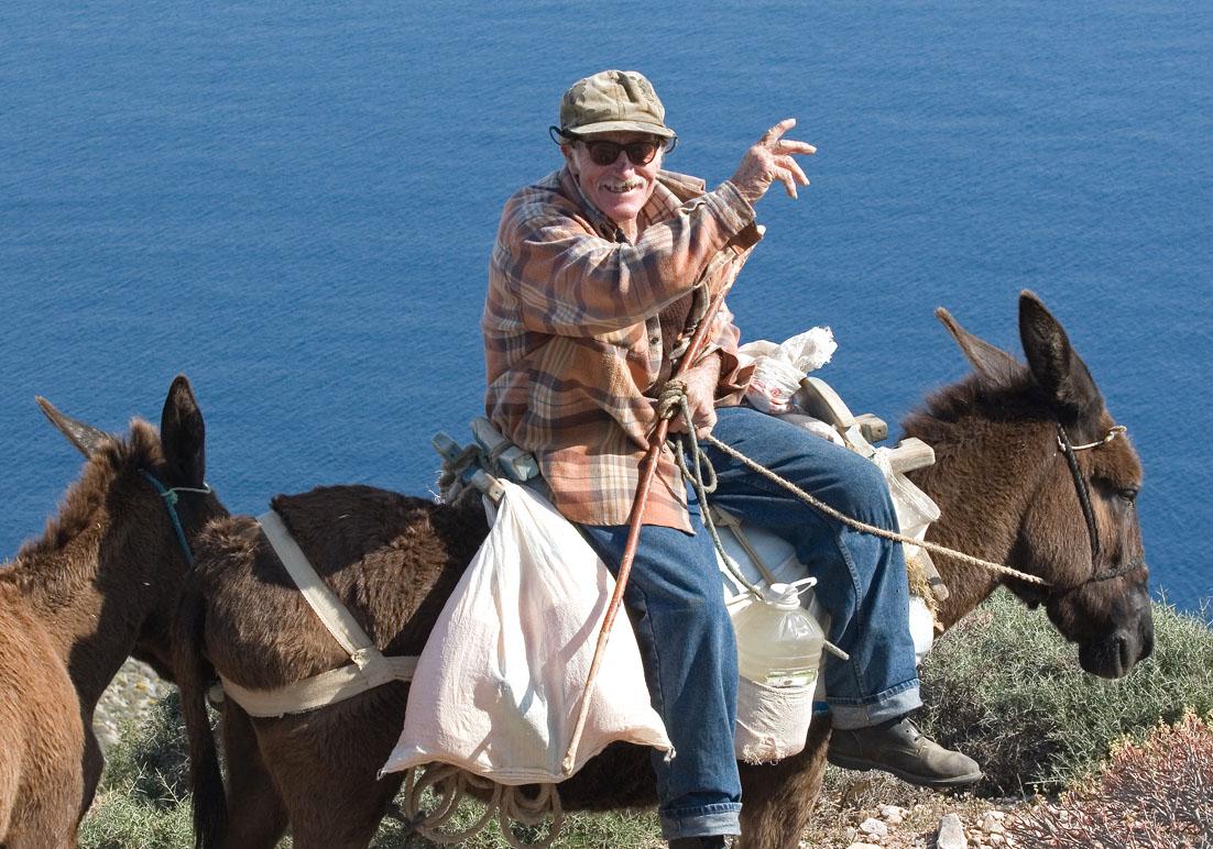 Esel als Reittier - Folegandros - Pfade - paths