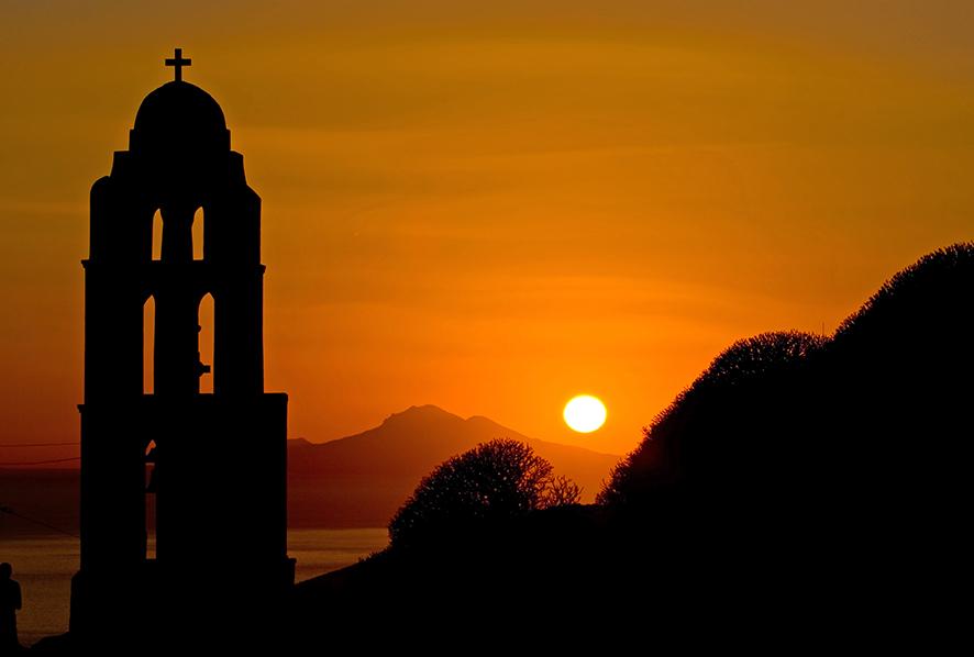 Folegandros sun set -  - Licht/Sonne - Light/Sun